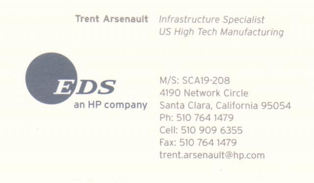 Trent's business card