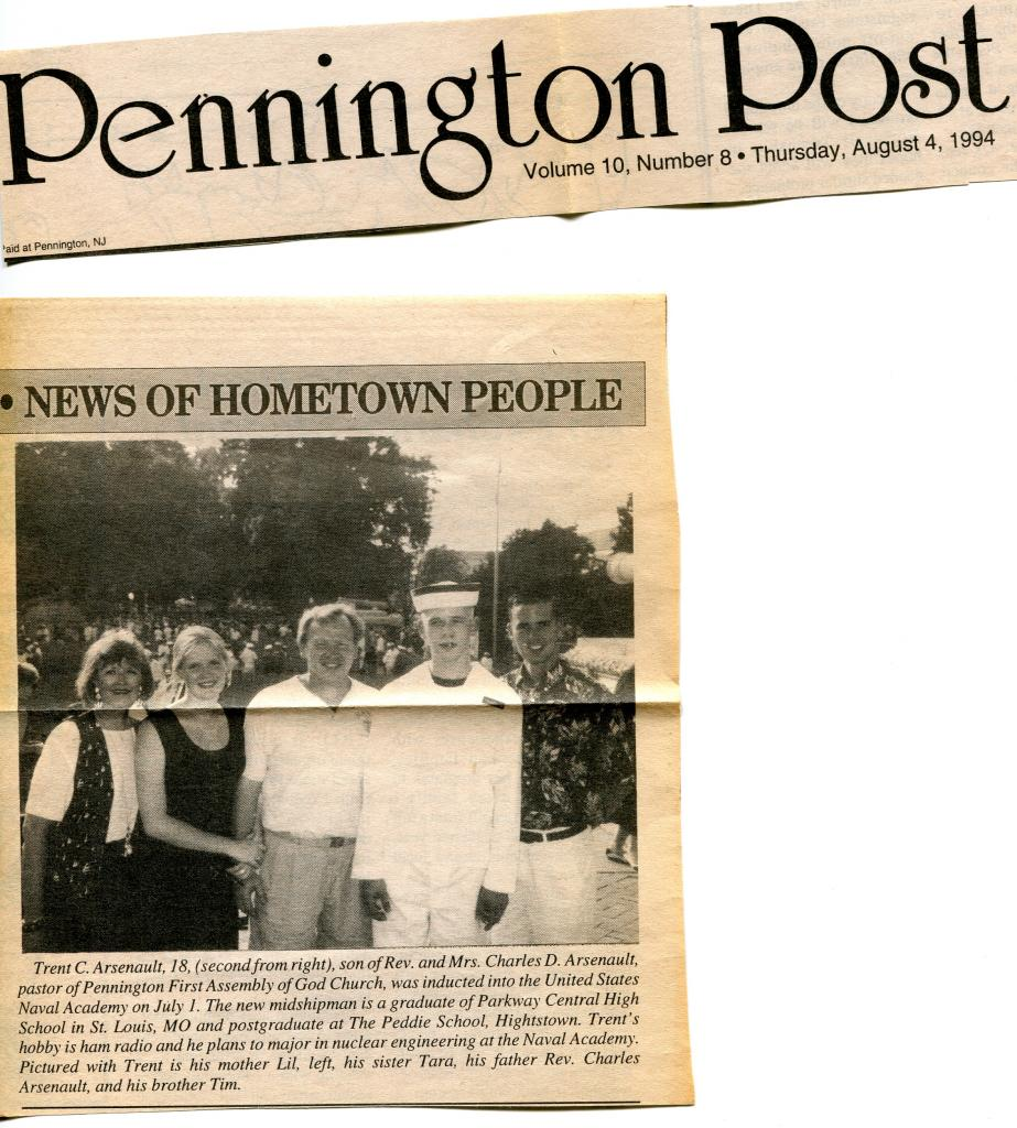Newspaper Article, Pennington, New Jersey