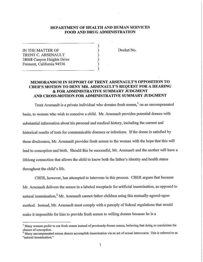 Cause of Action Brief to FDA - Pg 3 of 16